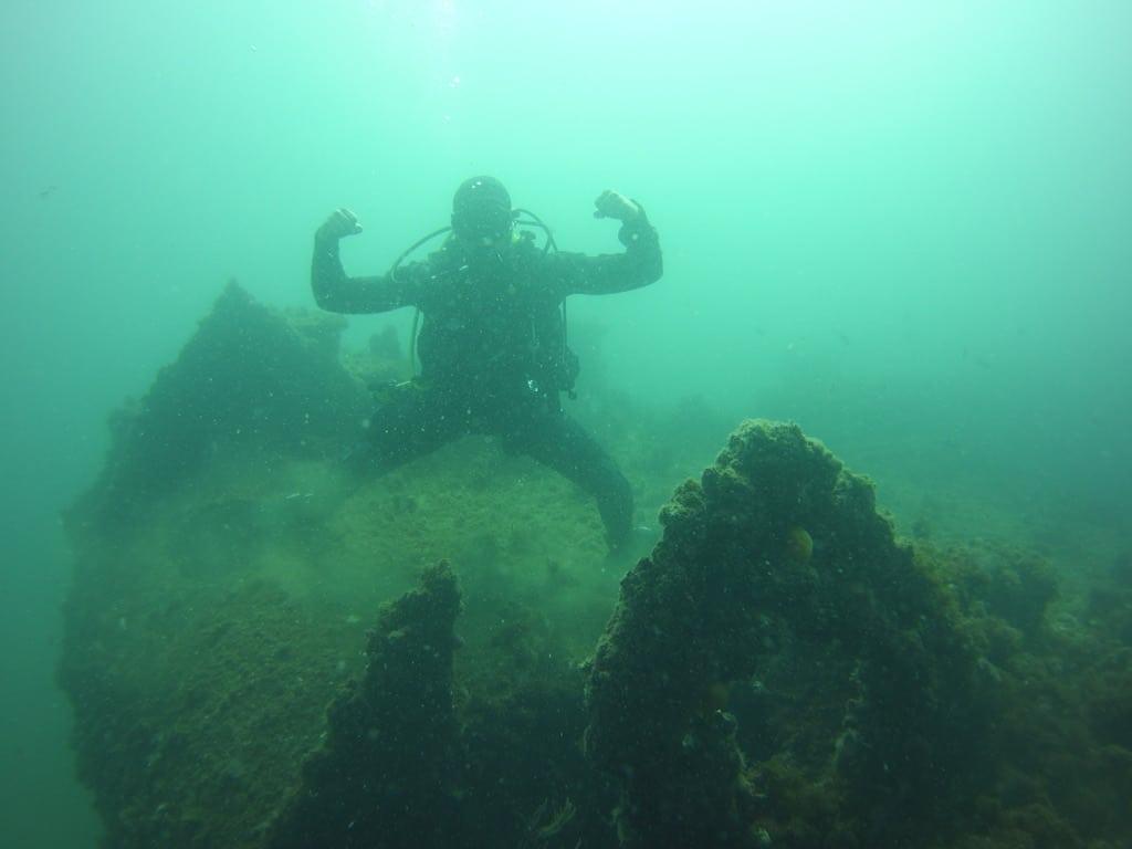 ship wreck in Gibraltar
